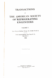Transactions of the American Society of Refrigerating Engineers: Volume 5