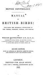 British Ornithology. Manual of British Birds