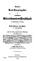 Real Encyclop  die der classischen Alterthumswissenschaft in alphabetischer Ordnung PDF