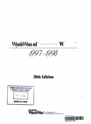 Who s Who of American Women  1997 1998