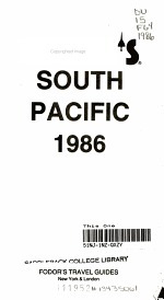 Fodor's South Pacific, 1986