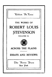 The Works of Robert Louis Stevenson: Volume 9
