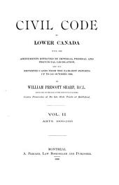 Civil Code of Lower Canada: Volume 2