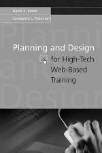 Planning and Design for High-tech Web-based Training