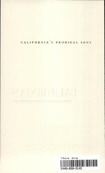 Download California s Prodigal Sons Book