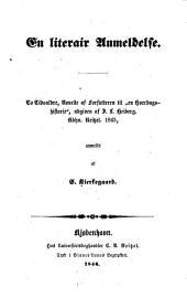 """En literair Anmeldelse: to Tidsaldre, Novelle af Forfatteren til """"en Hverdagshistorie"""", udgiven af I. L. Heiberg, Kbhv. Reitzel 1845"""