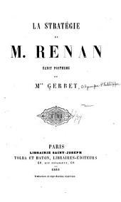 La Stratégie de M. Renan: Volume4,Numéro8