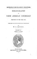 Bibliography of North American Conchology Previous to the Year 1860