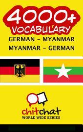 4000+ German - Myanmar Myanmar - German Vocabulary