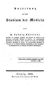 Anleitung zu dem Studium der Medizin