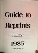 Guide to Reprints  1985 PDF
