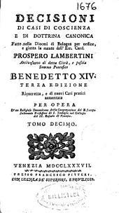 Decisioni di casi di coscienza e di dottrina canonica: Volume 11