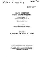 Health effects of diesel engine emissions: proceedings of an international symposium, December 3-5, 1979, Volume 2