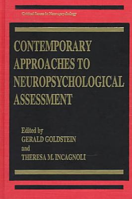 Contemporary Approaches to Neuropsychological Assessment PDF