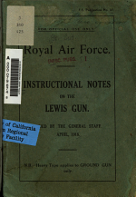 Instructional Notes on the Lewis Gun