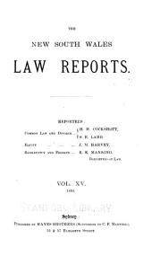The New South Wales Law Reports, 1880-1900: Volume 15