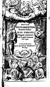Novum Testamentum D. N. J. C.