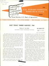 East Texas' timber harvest, 1964
