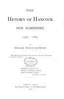 The History of Hancock  New Hampshire  1764 1889 PDF