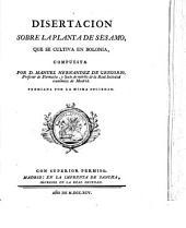 Disertación sobre la planta de sésamo que se cultiva en Bolonia