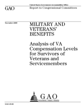 Military and Veterans' Benefits: Analysis of VA Compensation Levels for Survivors of Veterans and Service Members