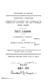 Cases and Points of the Supreme Court of the United States