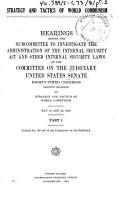 Strategy and Tactics of World Communism PDF