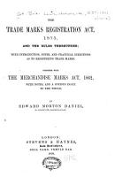 The Trade Marks Registration Act  1875 PDF