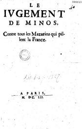 Le Jugement de Minos, contre tous les Mazarins qui pillent la France