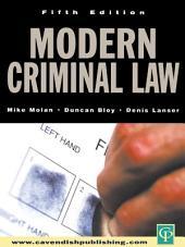 Modern Criminal Law: Fifth Edition, Edition 5