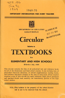 Circular Relative to Textbooks for Elementary and High Schools PDF