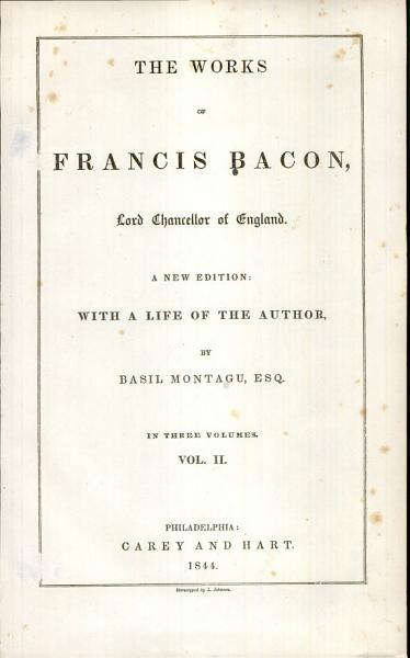 The Works of Francis Bacon  Lord Chancellor of England PDF