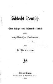 Schlecht Deutsch ...