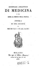 Giornale critico di medicina analitica, composte da una societa di medici italiani e compilato da Giovanni Strambio: Volume 14