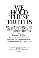 Download We Hold These Truths Book