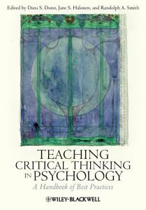 Teaching Critical Thinking in Psychology PDF