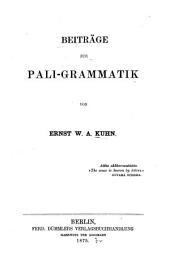 Beiträge zur Pali-grammatik