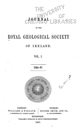 Journal of the Royal Geological Society of Ireland: Volume 11