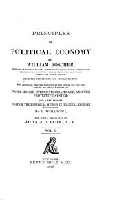 Principles of Political Economy: Volume 1