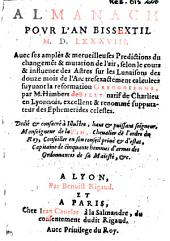 Almanach pour l'an bissextil M.D.LXXXVIII... par M. Himbert de Billy... (Carmen G. Bruschii)