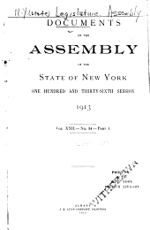 Documents of the Assembly of the State of New York: Volume 22