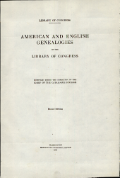 American and English genealogies in the Library of Congress