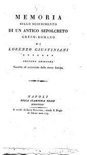 Memoria sullo scovrimento di un antico sepolcreto greco-romano di Lorenzo Giustiniani