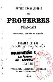 Petite encyclopédie des proverbes