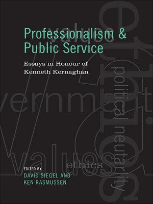 Professionalism and Public Service