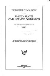 Annual Report of the United States Civil Service Commission: Volume 34