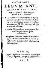 Catalogus legum antiquarum