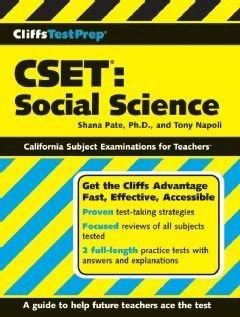CliffsTestPrep CSET  Social Science Book