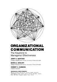 Organizational Communication Book