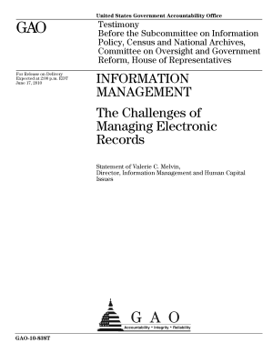 Information Management  the Challenges of Managing Electronic Records